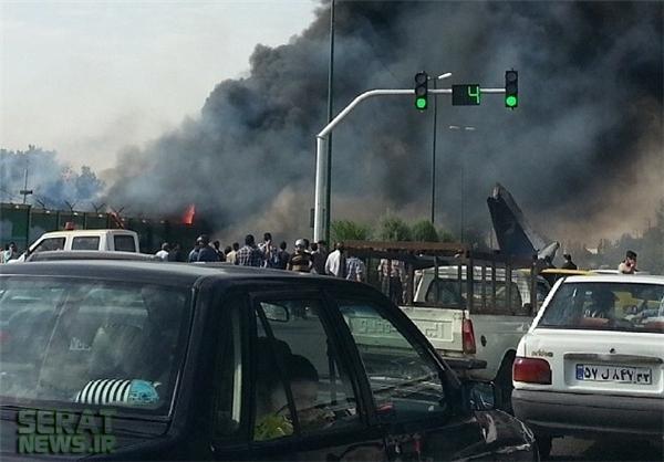 عکس/ محل سقوط هواپیما در تهران