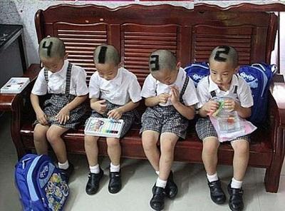 روش خنده دار خانواده چینی برای تشخیص چهار قلوهایشان!