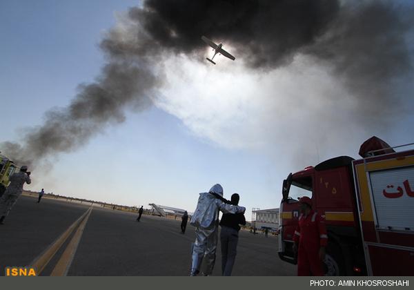 سقوط هواپیما در چناران +عکس
