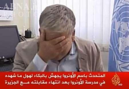 عکس/ گریه مقام سازمانملل برای غزه