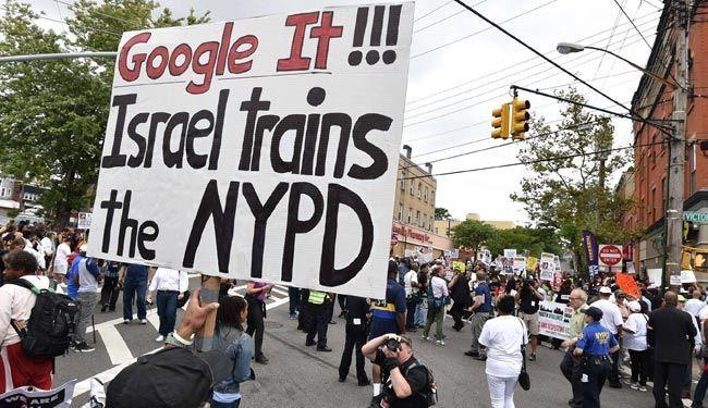 پلاکارد معنادار معترض آمریکایی +عکس