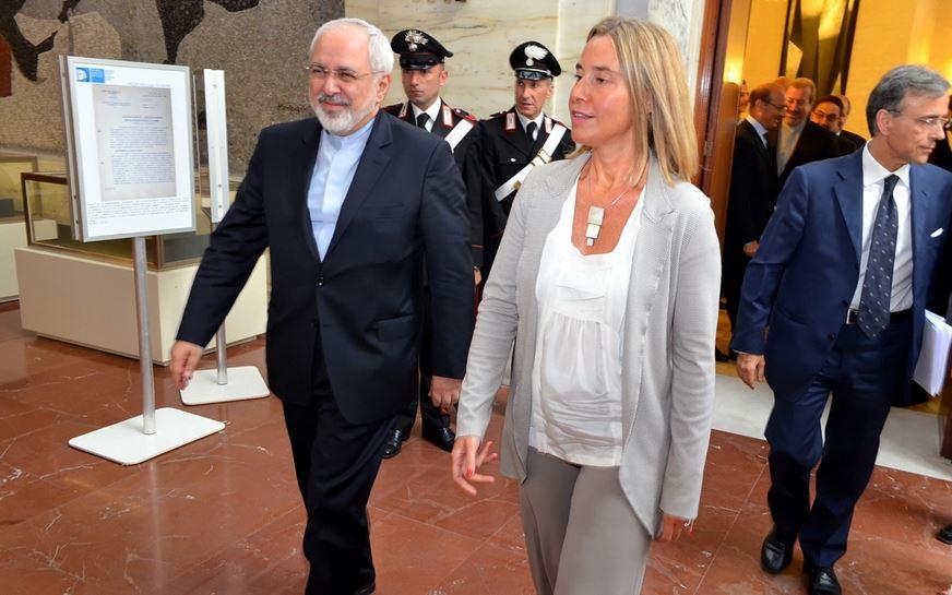 عکس/ اولین دیدار ظریف با موگرینی