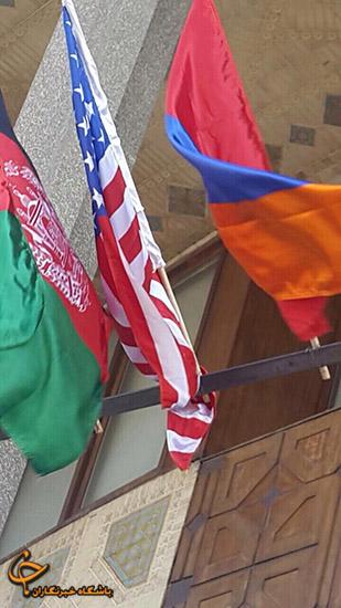 اهتزاز پرچم آمریکا در قلب پایتخت +عکس