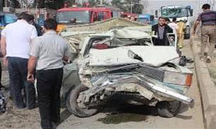 عبور مرگبار کامیون باری از روی وانت پیکان/ 2 نفر در دم جان باختند