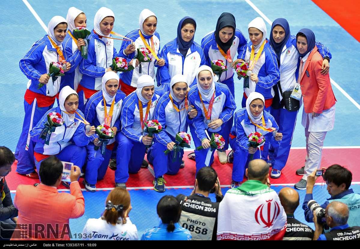عکس/ نایب قهرمانی کبدی زنان ایران