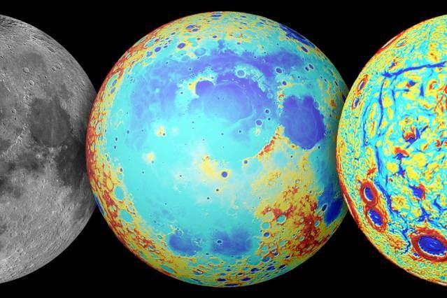 راز دریای بزرگ ماه افشا شد +تصاویر