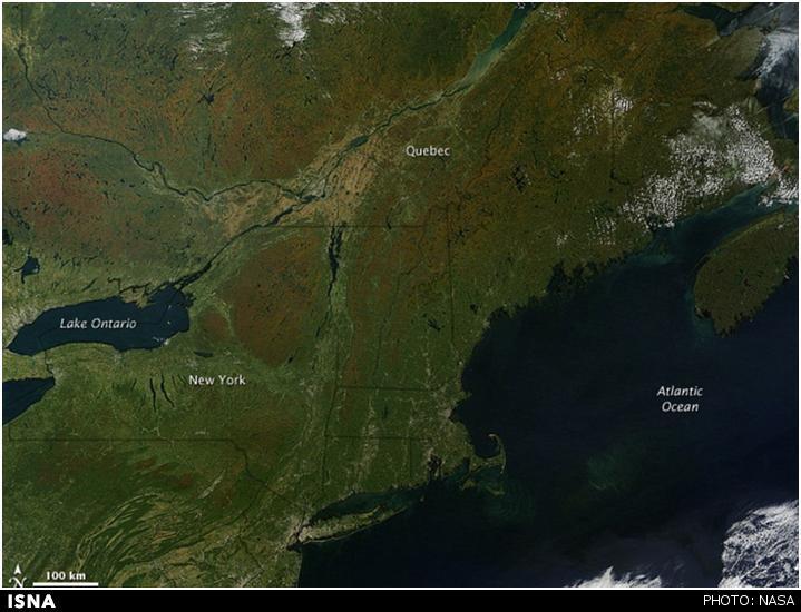 تصاویرماهوارهای ناسا از شروع فصل پاییز