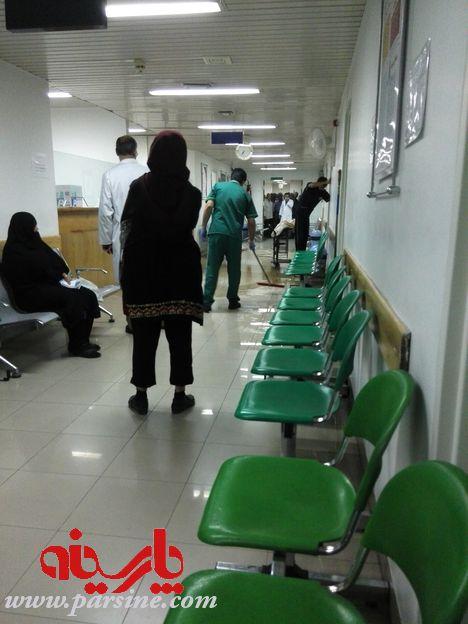 جاری شدن فاضلاب در راهروی بیمارستان قلب تهران! / عکس