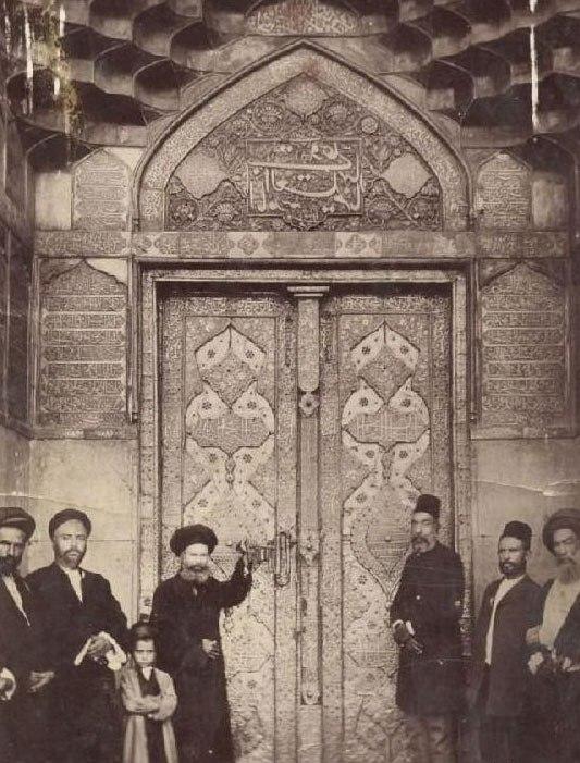 عکس/ قدیمیترین درب ورودی حرم امام علی(ع)