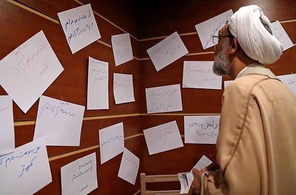 عکس/ پورمحمدی و دستخطهای کودکانه