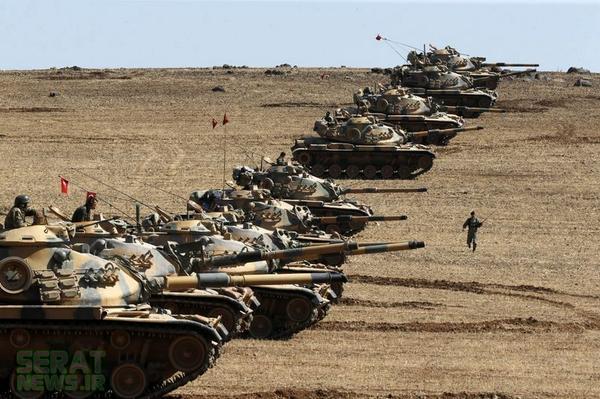 مرز ترکیه در تسخیر تانک ها در آمد+تصاویر(خبر گوشه قرمز)