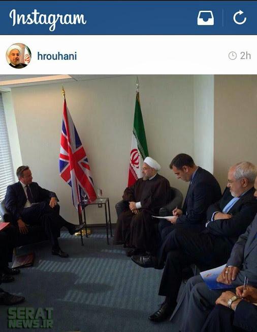 بی احترامی کامرون به رئیس جمهور در اینساگرام حسن روحانی+تصویر(خبر گوشه قرمز)