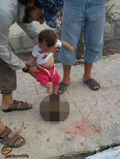 سر بریده توپ نوزاد داعشی شد! +عکس