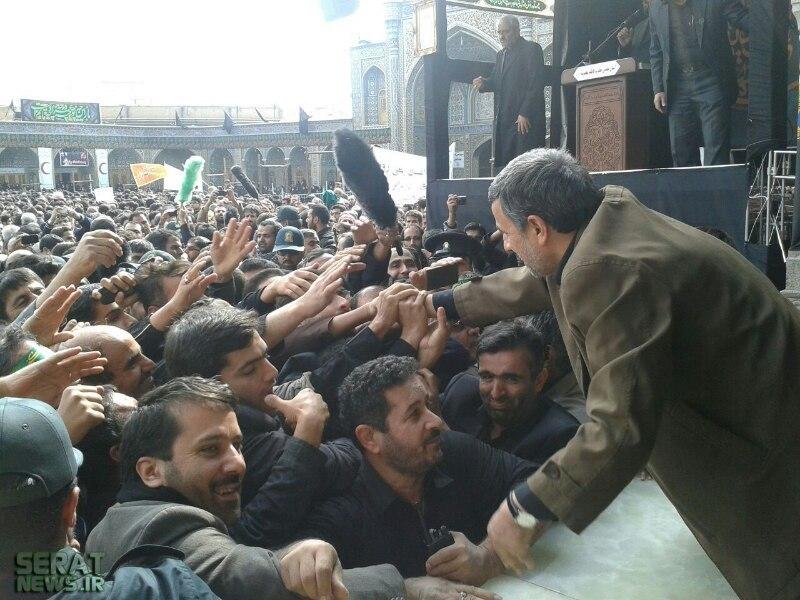 عکس/ استقبال از احمدینژاد در قم