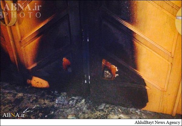 آتش زدن عمدی مسجدی در فرانسه + تصاویر