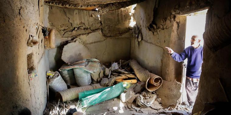 تصاویر/خسارات زلزله در روستای سیرمند