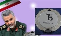 مدال جهانی که به سردار سلیمانی اهدا شد +عکس