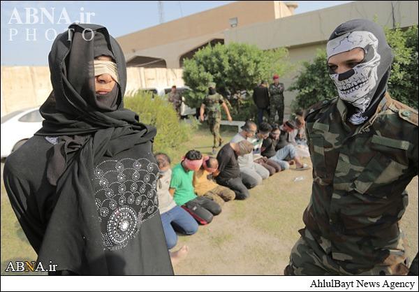 عکس/بازداشتیکعضو داعشبا لباسزنانه