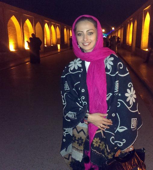 عکس/ نفیسه روشن در اصفهان