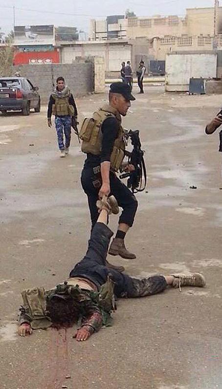 عکس/ عاقبت یک داعشی در عراق