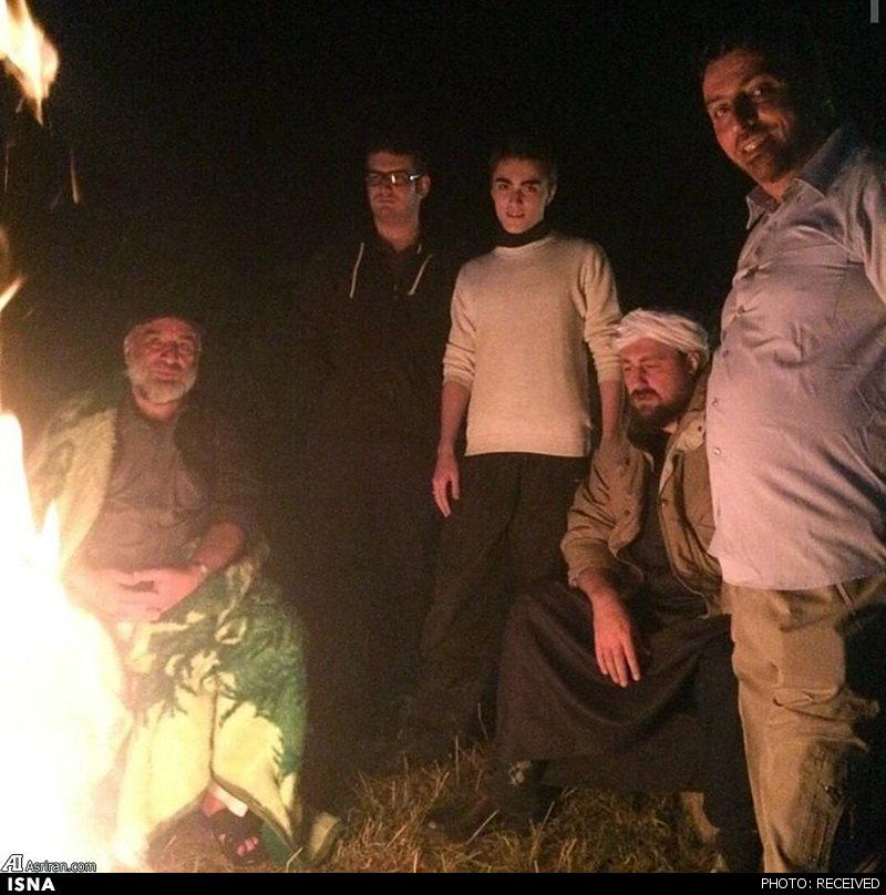 عکس/ نوه و نتیجه امام در کوه