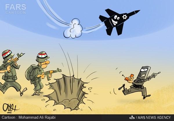 کاریکاتور/ خدمات متقابل تروریستها و اسرائیل