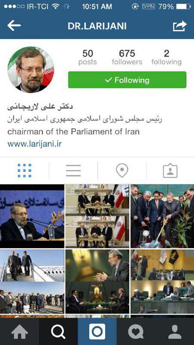 عکس/ علی لاریجانی عضو اینستاگرام شد