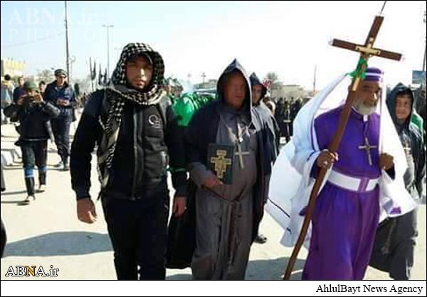 مسیحیان در پیادهروی اربعین +تصاویر