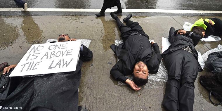 عکس/اعتراضدانشجویانحقوقدرنیویورک