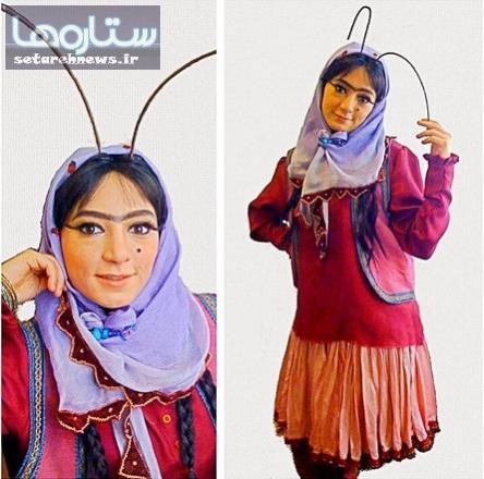عکس جالب یلدایی بازیگر زن