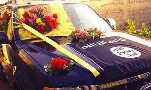 عکس/ ماشین عروس داعش
