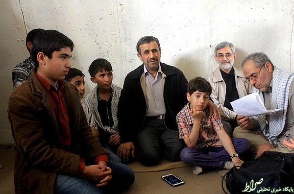 تصاویر/ احمدینژاد در کاروان راهیان نور