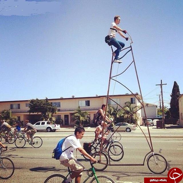 عکس/ عجیب ترین دوچرخه دنیا!