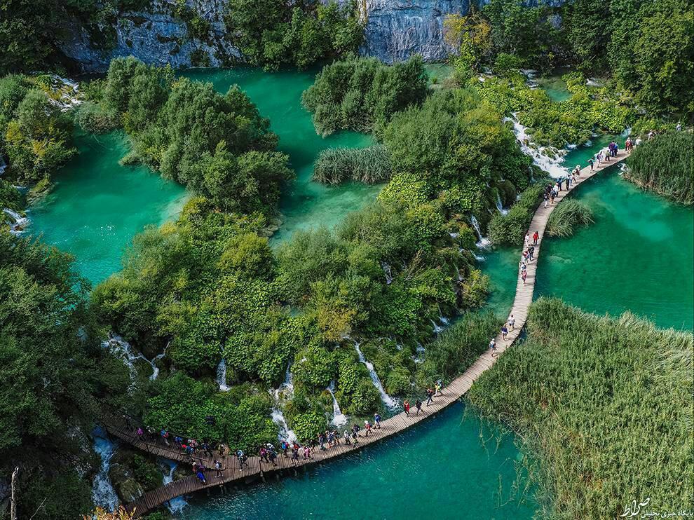عکس/ طولانی ترین پل چوبی جهان