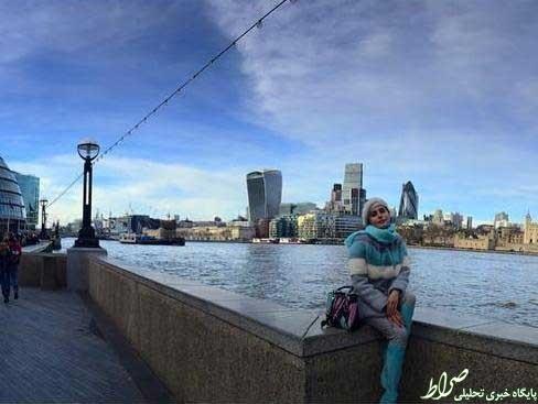 عکس/ تیپ زمستانی بازیگر زن در لندن