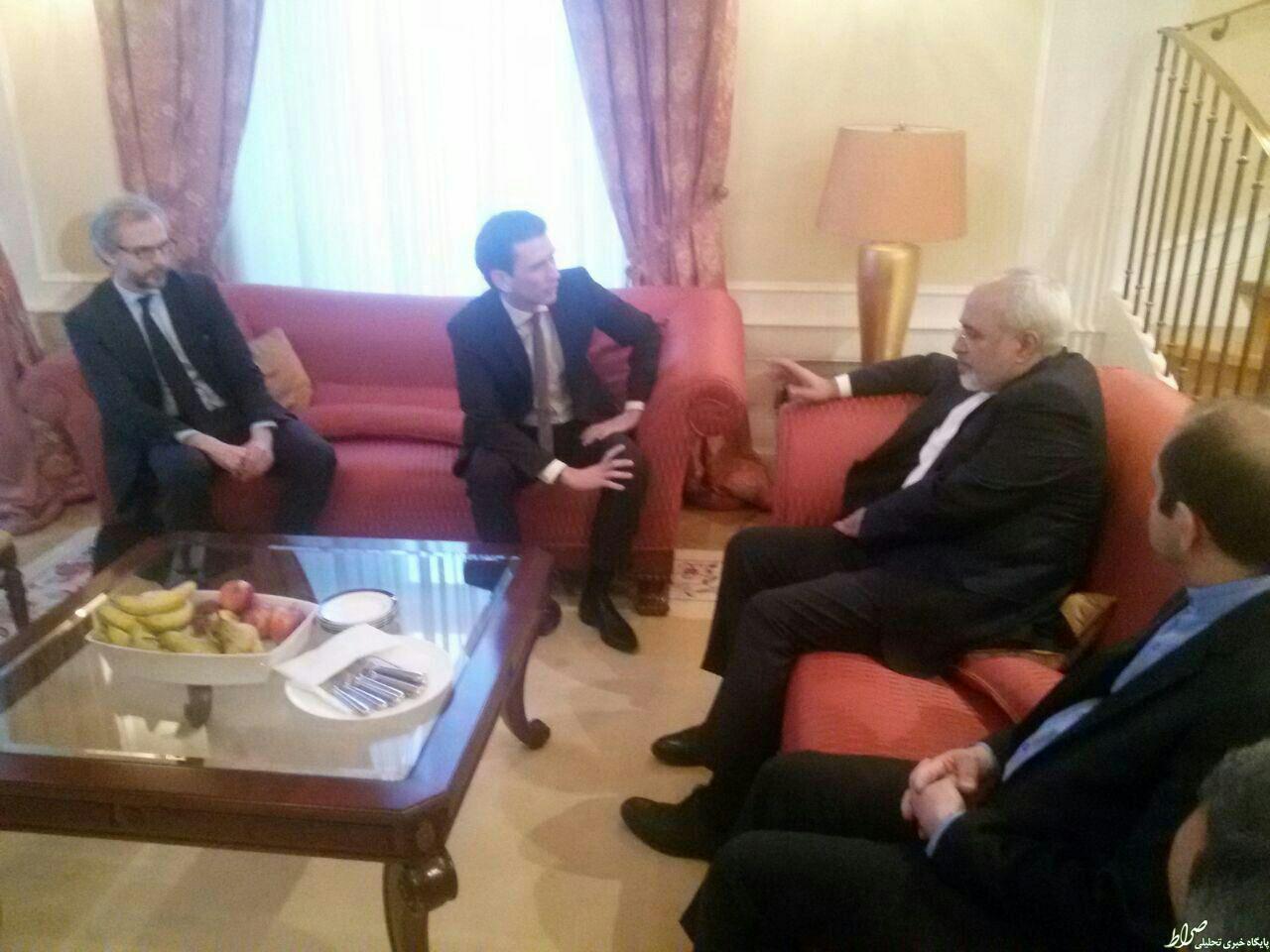دیدار ظریف با وزیر خارجه اتریش +عکس