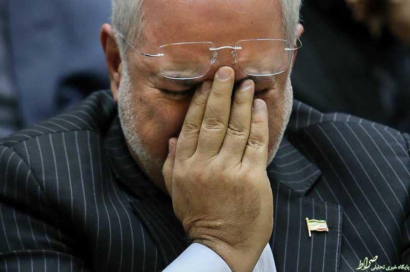 عکس/اشکهای ظریف درسوگ پدرمعاونش