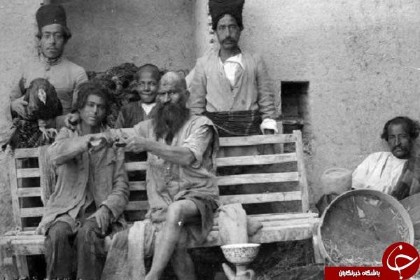 عکس یکی از اوباش زمان قاجار