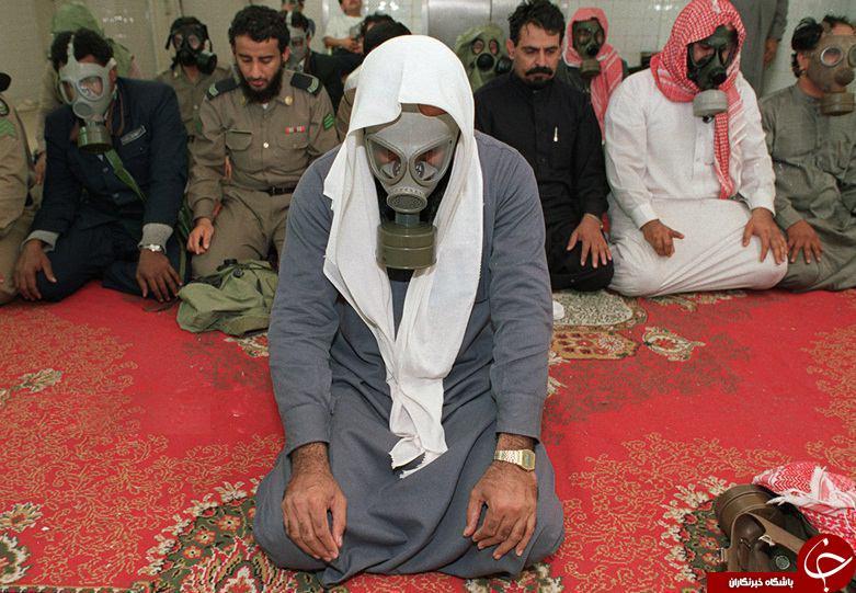 عکس/ نماز جماعت سربازان عرب با ماسک!