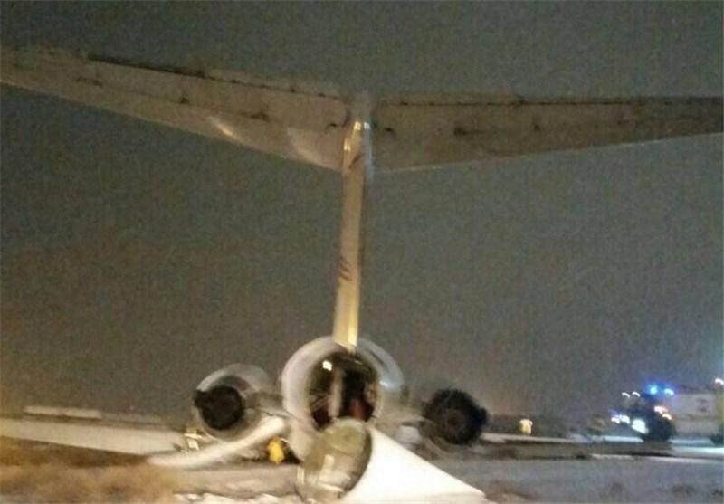عکس/ هواپیمای سانحه دیده در مشهد