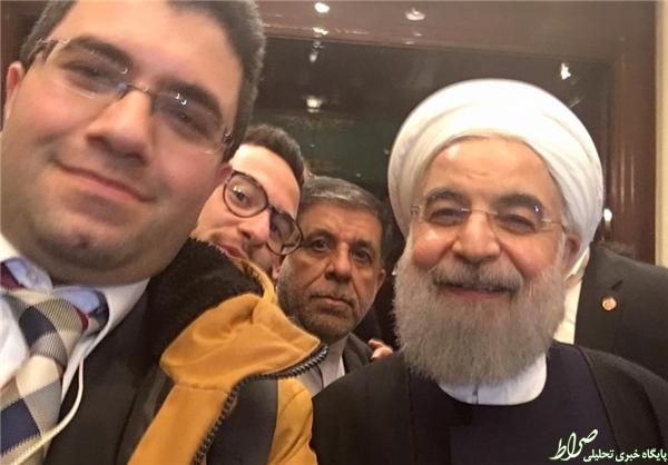 سلفی یک ضدانقلاب با روحانی +عکس
