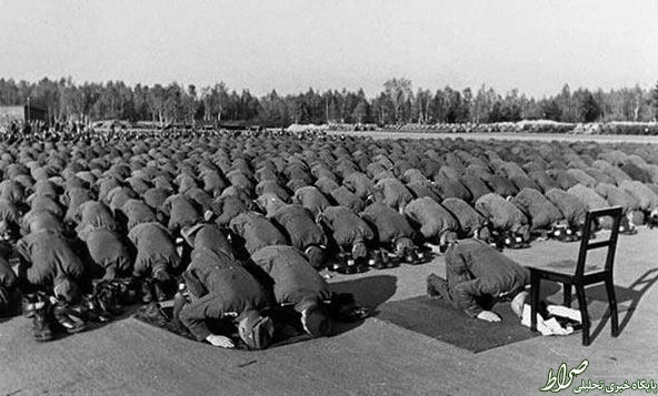 عکس/ نماز جماعت لشکر هیتلر