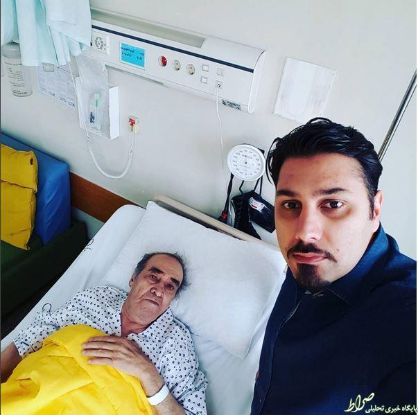 ایرج در بیمارستان بستری شد +عکس
