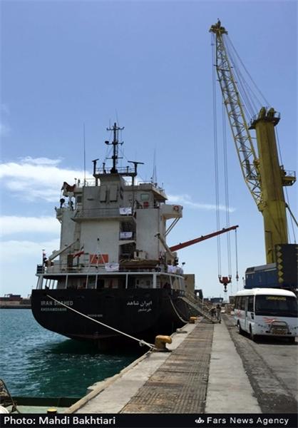 کشتی ایرانی اعزامی به یمن +تصاویر