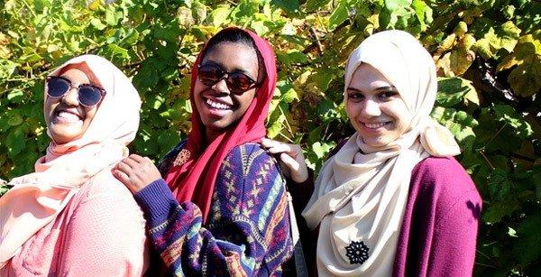 راهکار حجاب راحت در امریکا +عکس