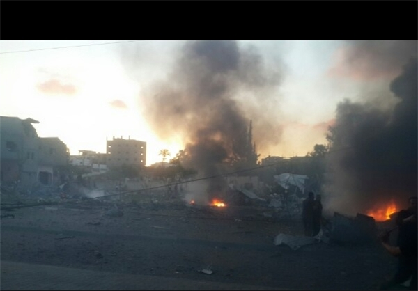 جزئیات انفجار دیروز غزه +تصاویر