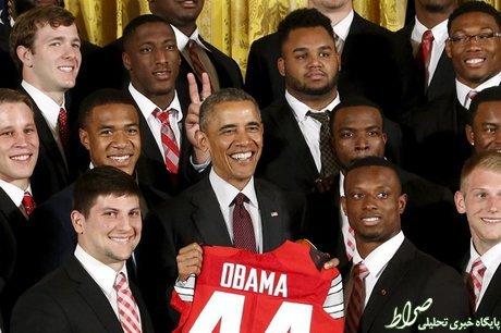 عکس/ شوخی دانشجویان با باراک اوباما