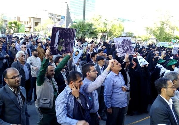 تجمع جامعه قرآنی در محکومیت جنایات آلسعود +تصاویر