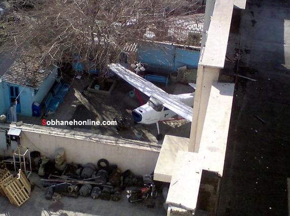 عکس/ پارک هواپیما در حیاط خانه یک تهرانی!