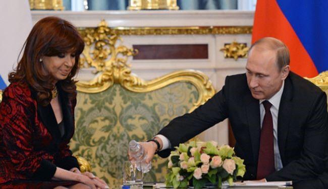 سنگ تمام پوتین برای خانم رئیس?جمهور! +عکس